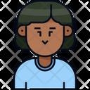 Woman Man Short Hair Icon