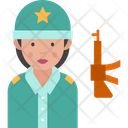 Woman Soldier Icon