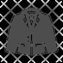 Woman Suit Down Jacket Coat Icon