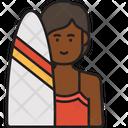 Woman Surfer Icon