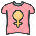 Woman T Hsirt T Shirt Woman Icon