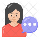 Self Talk Speech Woman Talking Icon