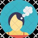 Woman Thinking Icon