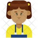 Woman Tied Hair Icon