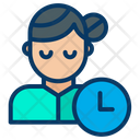 Woman Time Icon