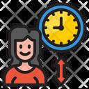 Woman Time Icon