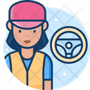 Woman Truck Driver Icon