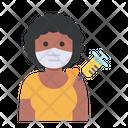Woman Vaccination Icon