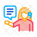 Woman Verbal Help Icon