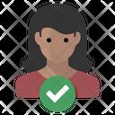 Woman Verified Person Woman Icon