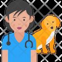 Woman Veterinarian Icon