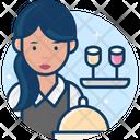 Woman Waiter Icon