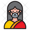 Woman Waring Mask Face Mask Girl With Mask Icon