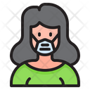 Woman Waring Mask Girl With Mask Girl Icon