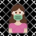 Woman Wear Mask Mask Woman Icon