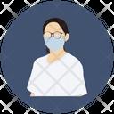 Woman Wearing Mask Anti Virus Icon