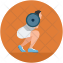 Woman Weightlifter Weight Icon