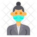 Woman With Facemask Icon