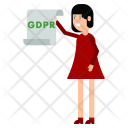 Woman with the document GDPR Icon