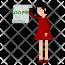 Document Woman Gdpr Icon