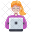 Computer Learning Education Icon