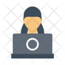 Working Office Employee Icon