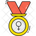 Womans Medal Icon