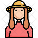 Hat Woman User Icon