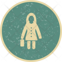 Women With Briefcise Icon