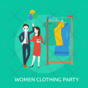 Women Clothing Party Icon