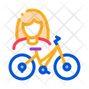 Women Cycle Icon