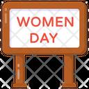 Ad Board Women Day Board Women Day Banner Icon