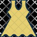 Women Dress Frock Party Dress Icon