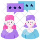 Women Review Feedback Quality Icon