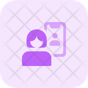 Women Video Call Icon