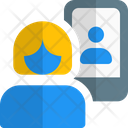 Women Video Call Video Chat Video Call Icon