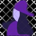 Women wear cap Icon