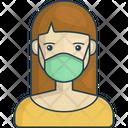 Women wearing medical masks Icon