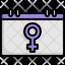 Womens Day Calendar Event Icon