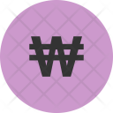 Won Currency Kpw Icon