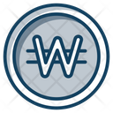 Won Coin Currency Coin Icon