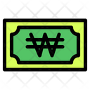 Won Banknote Country Icon