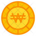 Won Coin Currency Icon