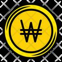 Won Coin Coinage Money Icon