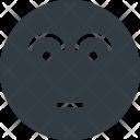Wondering Emoji Face Icon