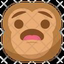 Wondering Surprised Monkey Icon