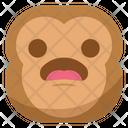 Wondering Monkey Emoji Icon