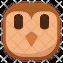 Flat Wondering Owl Icon