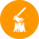Wood Lumberjack Forest Icon