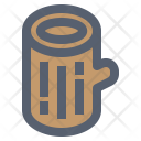 Camping Log Nature Icon